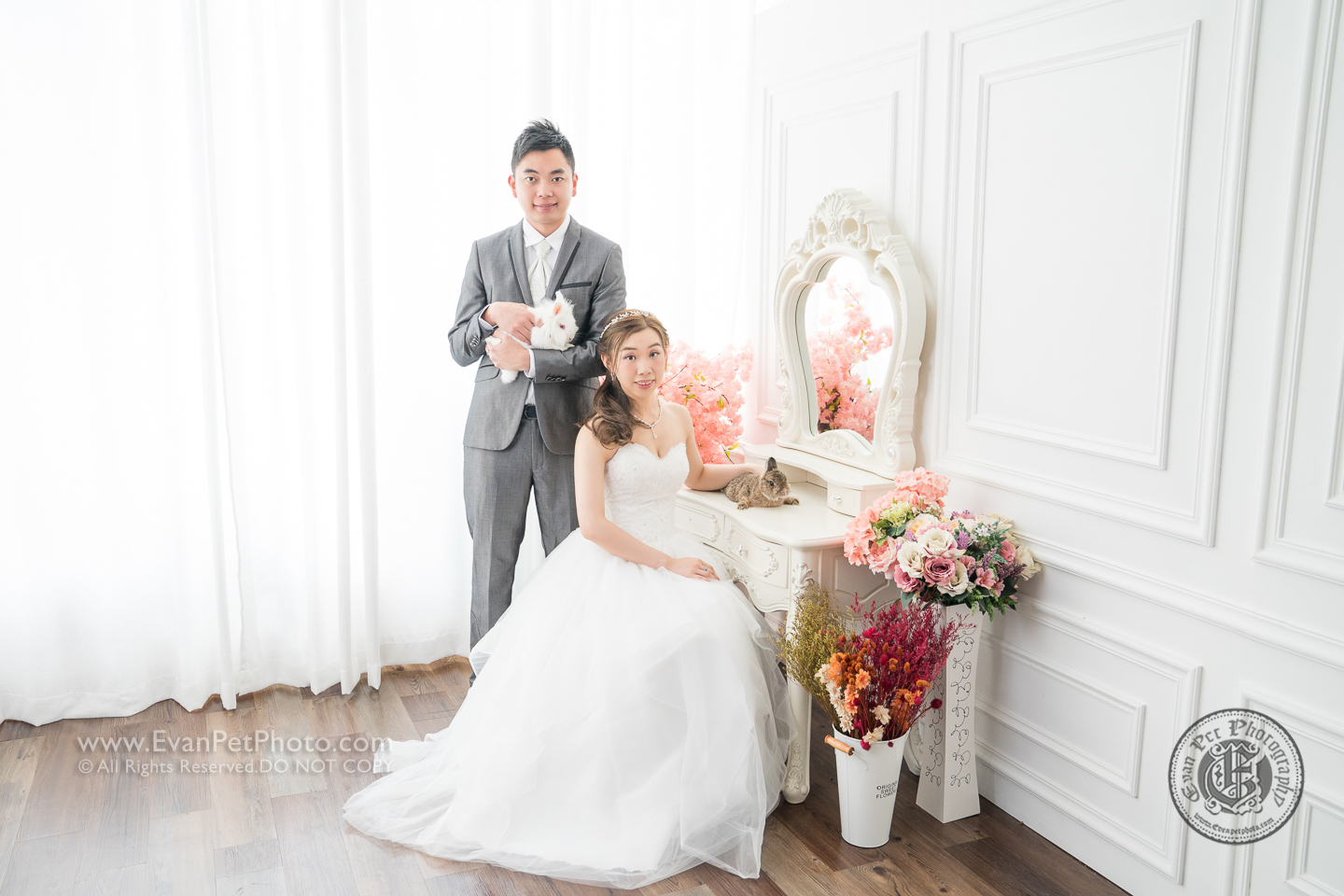 Prewedding,pre-wedding,studio prewedding, rabbit prewedding, 婚紗攝影, 寵物婚紗攝影, 兔兔攝影, 影樓pre-wedding